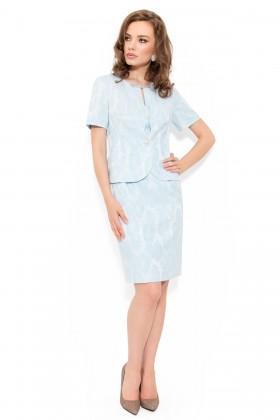 Costum cu rochie 9348 bleu