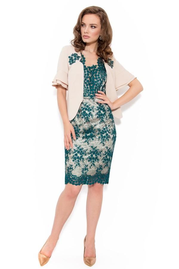 Costum cu rochie 9347 verde