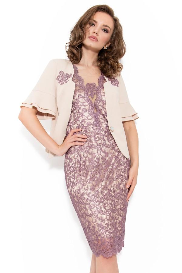 Costum cu rochie 9347 lila