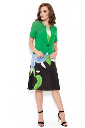 Costum cu rochie 9320 verde