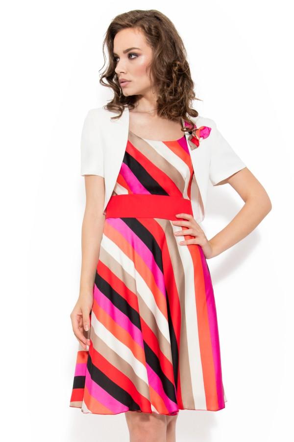 Costum cu rochie 8031 crem