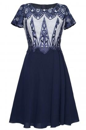 Rochie eleganta R 020 bleumarin