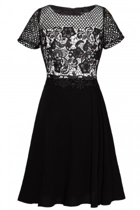 Rochie eleganta R 020 neagra