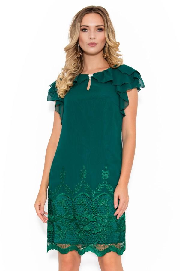 Rochie din voal R 025 verde