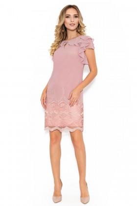 Rochie din voal R 025 roz prafuit
