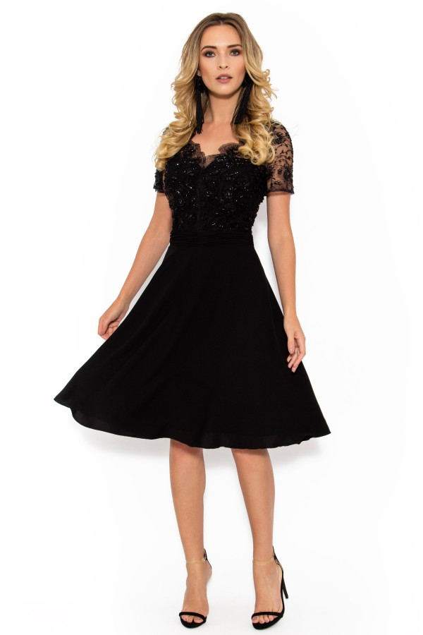 Rochie eleganta R 942 neagra