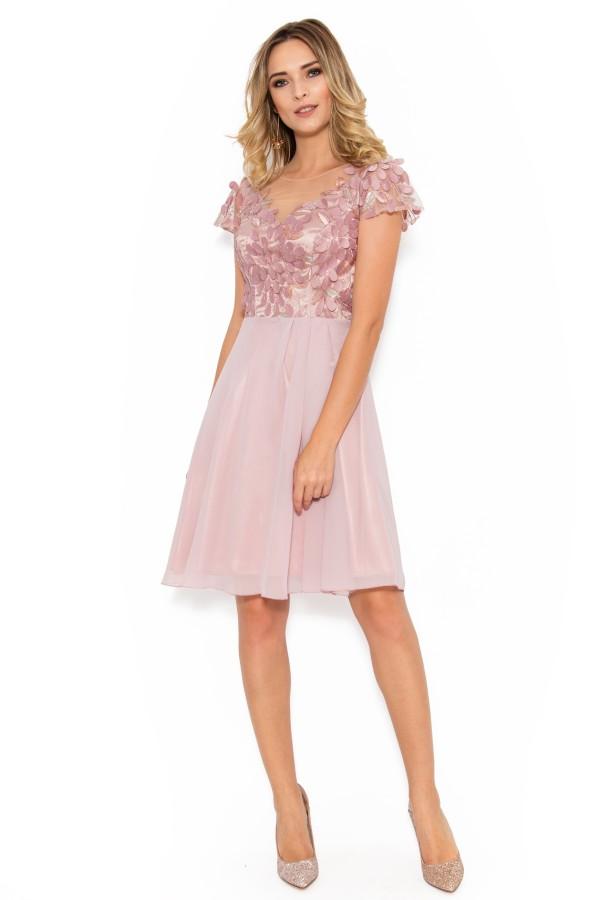 Rochie eleganta R 027 roz