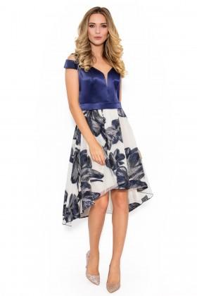 Rochie eleganta R 036 bleumarin
