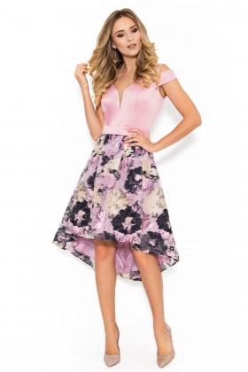 Rochie eleganta R 036 roz