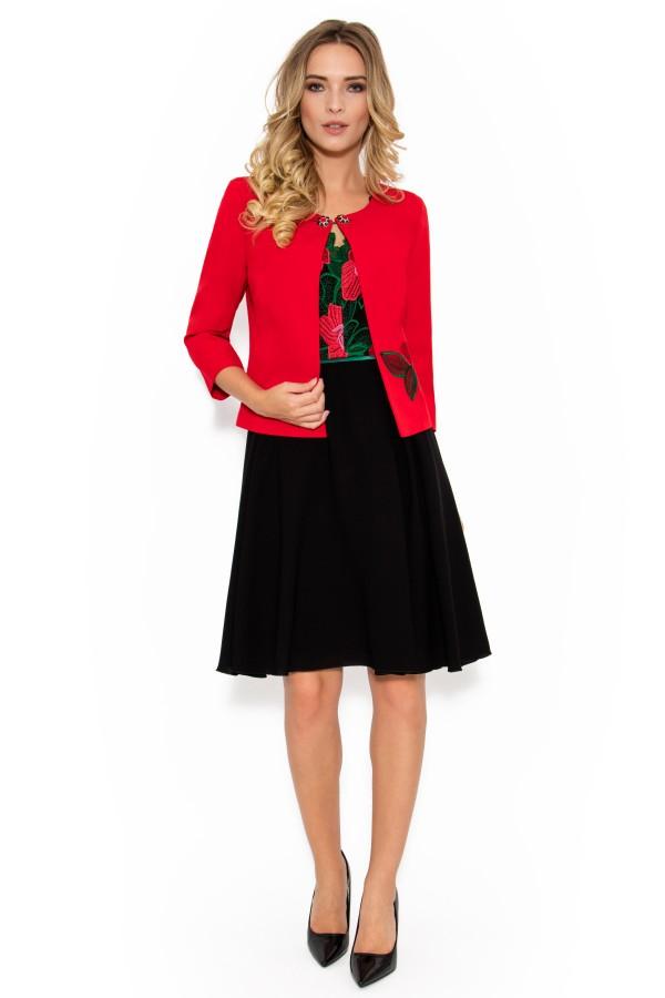 Costum cu rochie 9350 rosu
