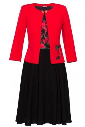 Costum cu rochie 9350 trandafiri