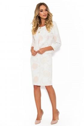 Costum cu rochie 9351 crem-bej