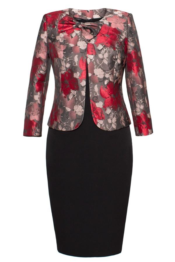 Costum cu rochie 9353 rosu