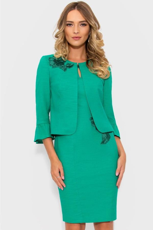 Costum cu rochie 9343 verde