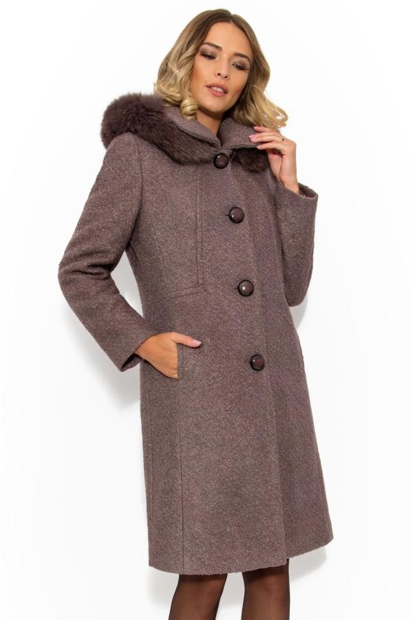 Palton cu gluga 7219 maro