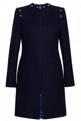Mantou din lana 7233 bleumarin