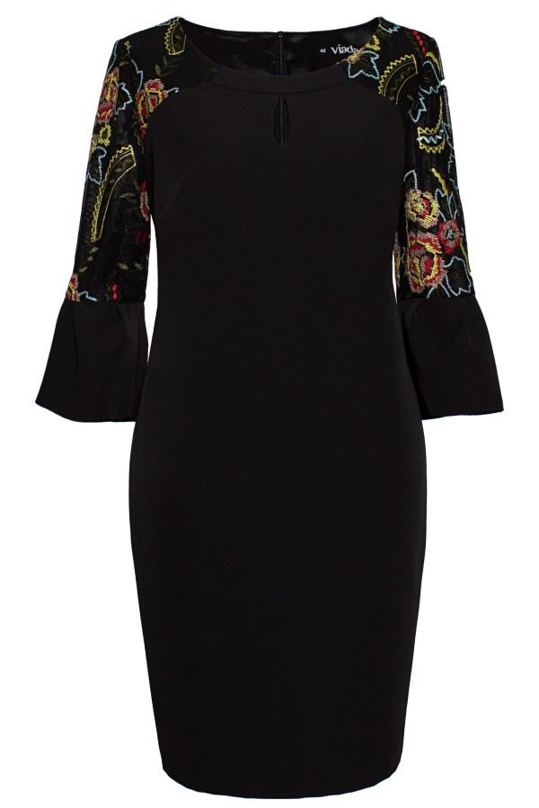 Rochie casual R 052 negru