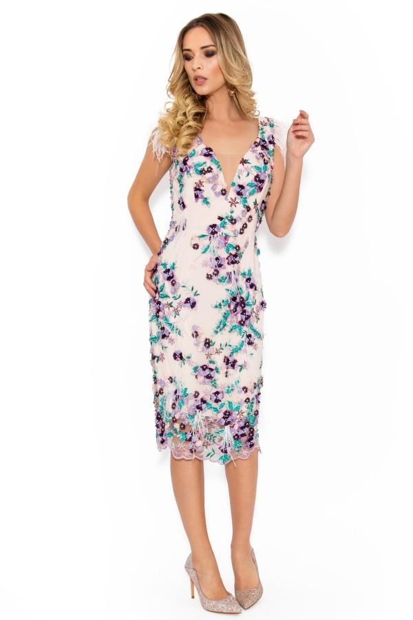 Rochie de ocazie R 006 lila