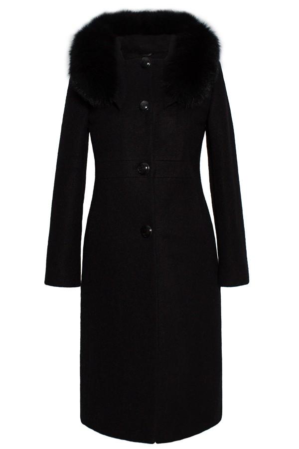 Palton lung 7225 negru
