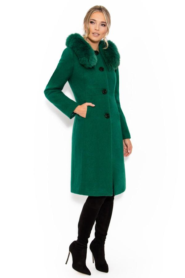 Palton lung 7225 verde