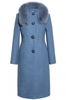 Palton lung 7225 albastru