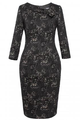 Rochie casual R 051 negru
