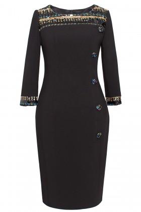 Rochie eleganta R 066 negru