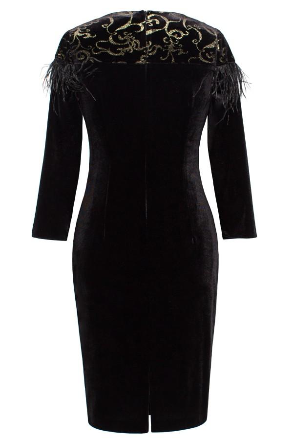 Rochie R 065 catifea neagra