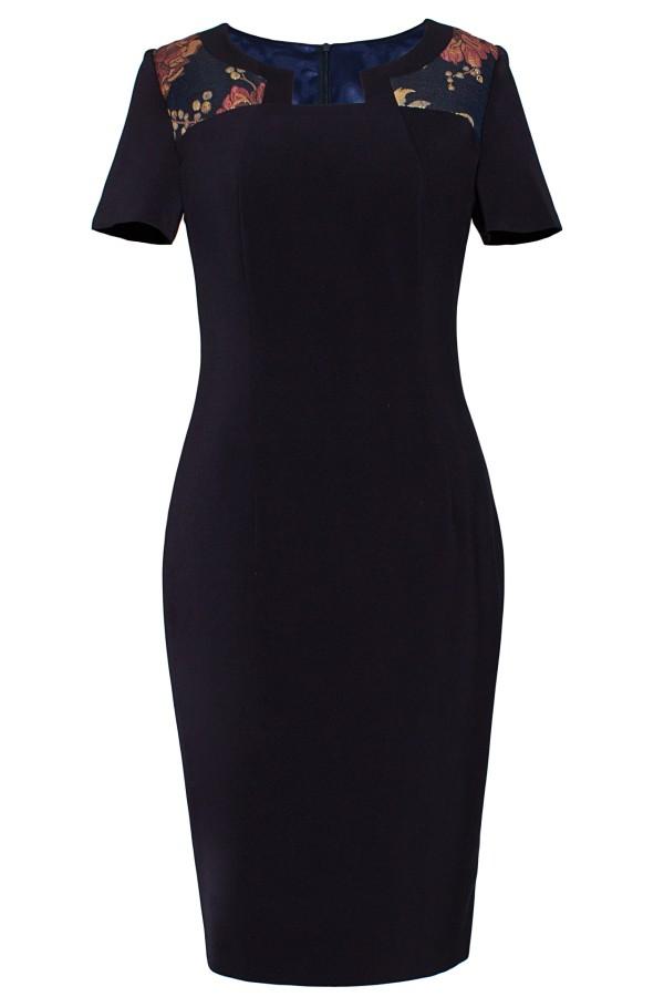 Costum cu rochie 9355 bleumarin