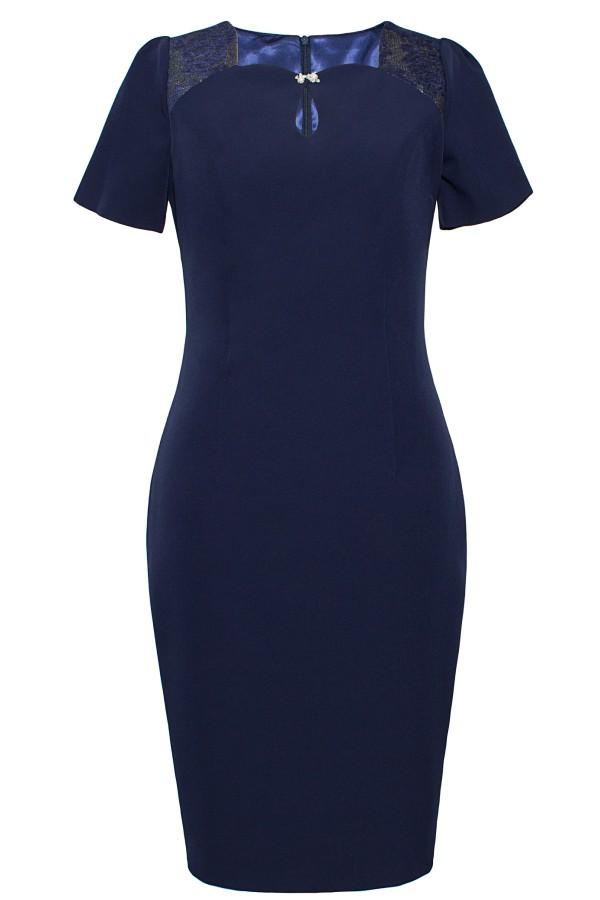 Costum cu rochie 9361 bleumarin