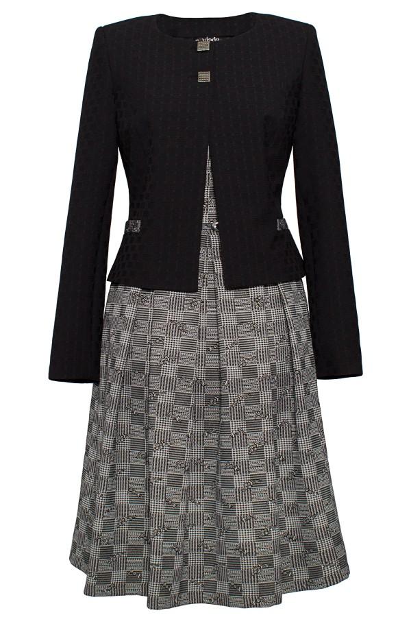 Costum cu rochie 9358 negru