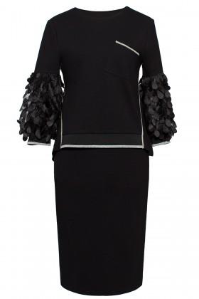 Costum cu fusta 295 negru