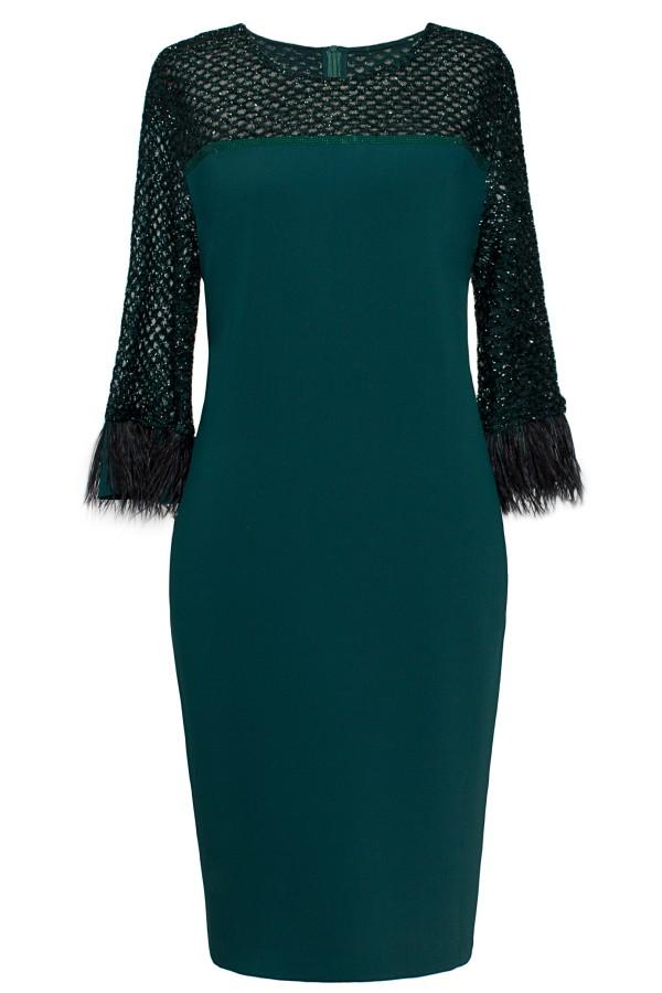 Rochie eleganta R 346 verde