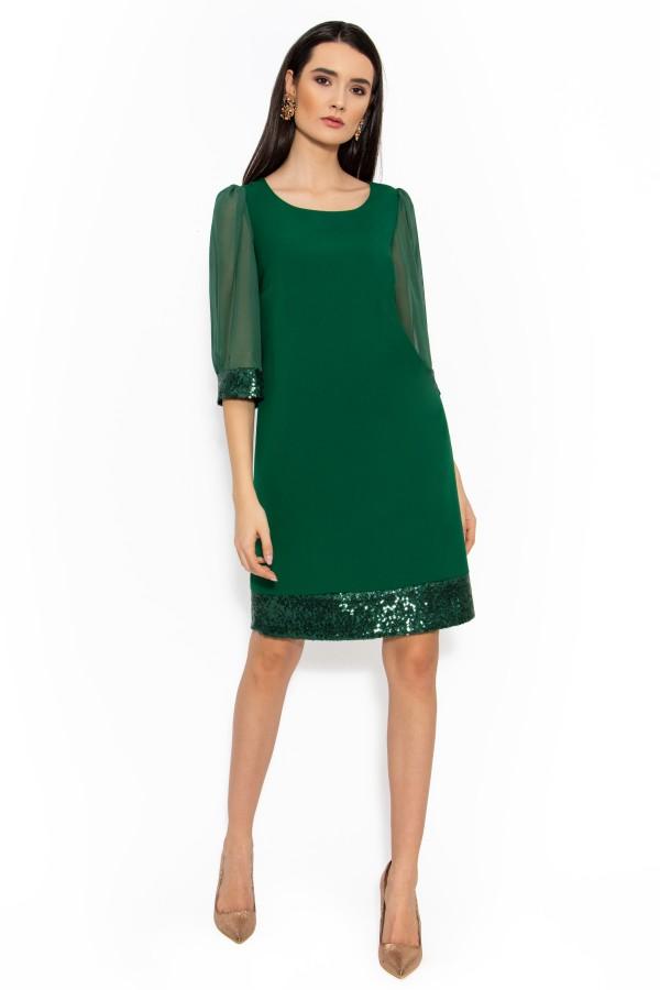 Rochie eleganta R 042 verde