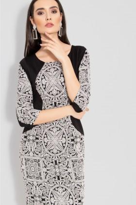 Rochie casual R 076 negru