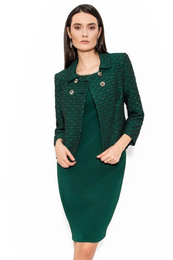 Costum cu rochie 9366 verde