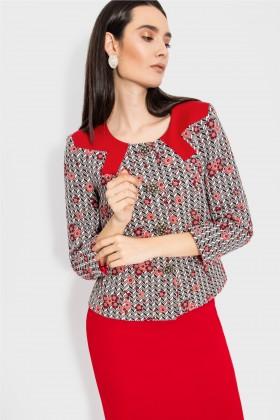 Costum cu fusta 1447 rosu