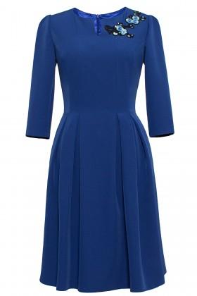 Rochie casual R 116 albastru