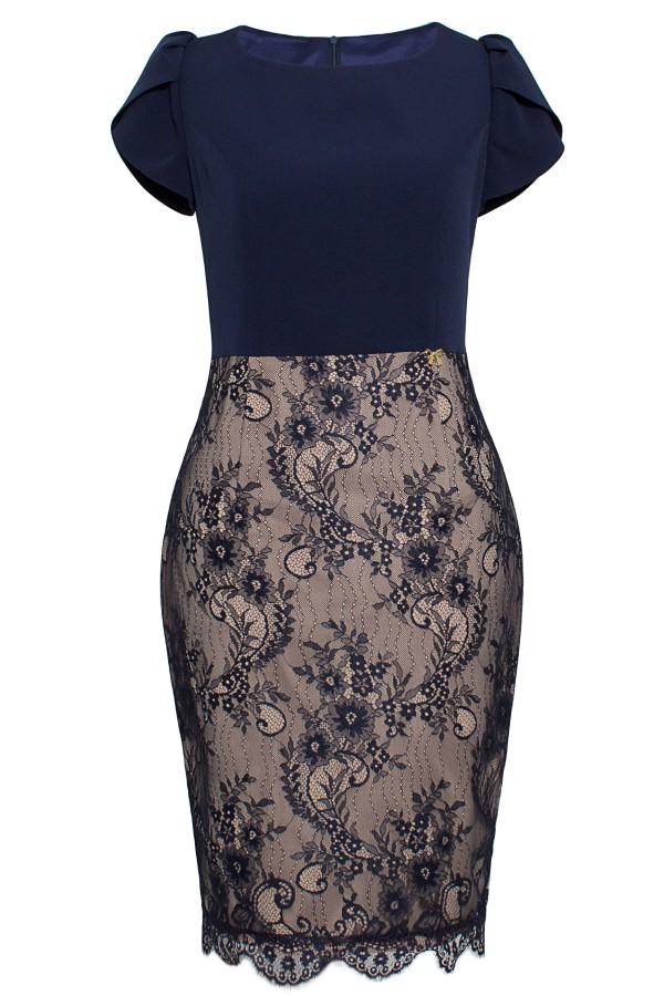 Pardesiu cu rochie 7713 bleumarin