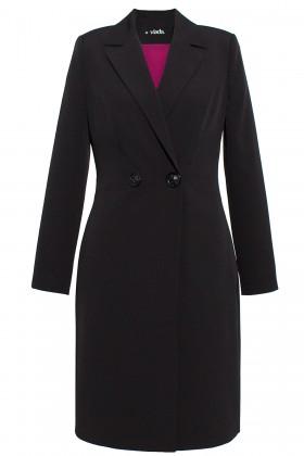Pardesiu cu rochie 7713 negru