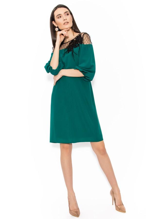 Rochie eleganta R 100 verde