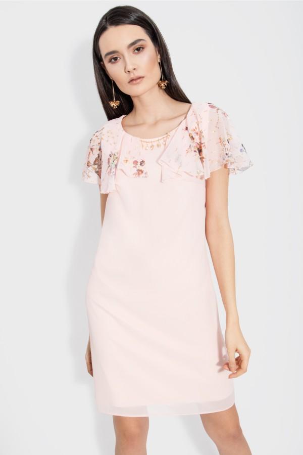 Rochie eleganta R 105 roz