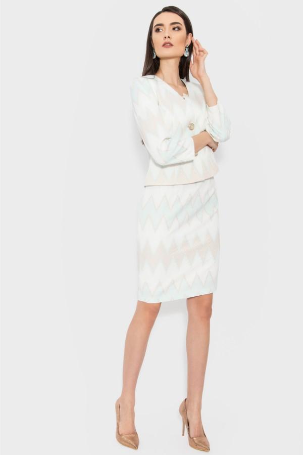 Costum cu rochie 9367 alb