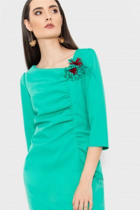 Rochie eleganta R 121 verde