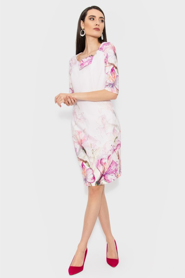 Rochie casual-office R 137 roz