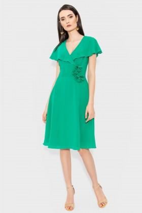 Rochie din voal R 142 verde