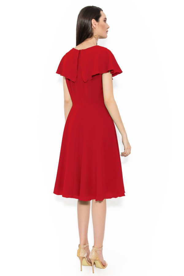 Rochie din voal R 142 rosu