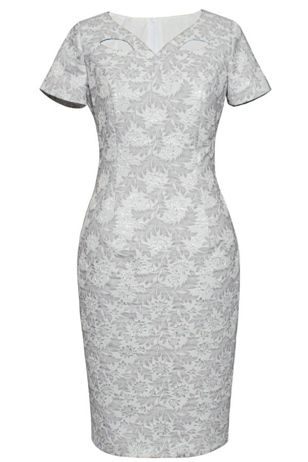 Costum cu rochie 9372 gri