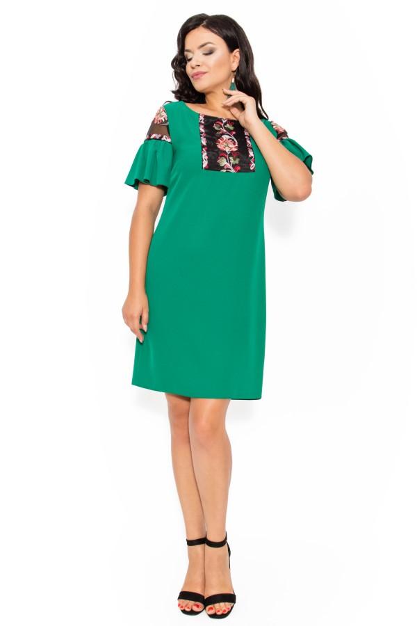 Rochie casual R 156 verde