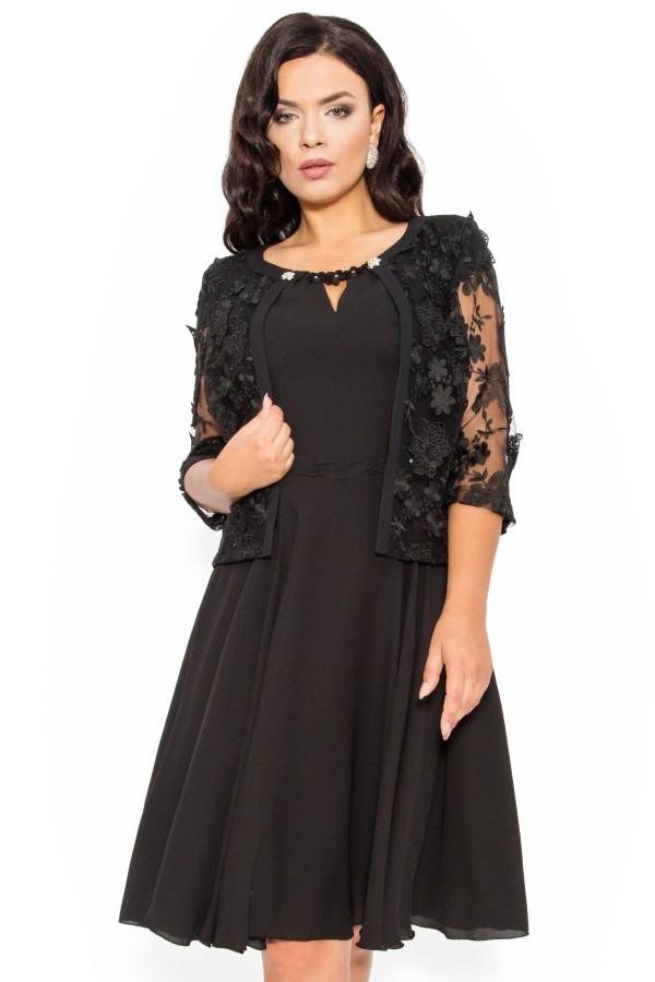 Costum elegant 9378 negru